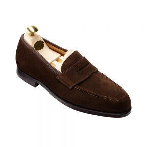 CROCKTT & JONES BOSTON DARK BROWN SUEDE