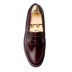 CROCKTT & JONES BOSTON BURGUNDY CALF