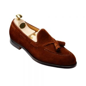 CROCKTT & JONES CAVENDISH POLO BROWN SUEDE