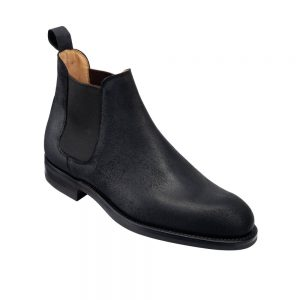 CROCKTT & JONES CHELSEA 5 BLACK ROUGH-OUT SUEDE