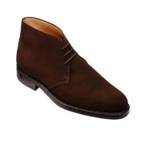 CROCKTT & JONES CHILTERN DARK BROWN SUEDE
