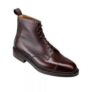 CROCKTT & JONES CONISTON DARK BROWN SCOTCH GRAIN