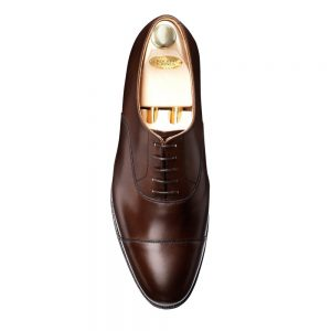 CROCKTT & JONES CONNAUGHT DARK BROWN CALF
