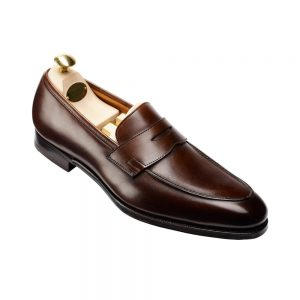 CROCKTT & JONES CRAWFORD DARK BROWN ANTIQUE CALF