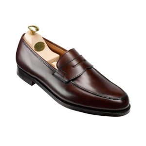 CROCKTT & JONES GRANTHAM 2 DARK BROWN CALF