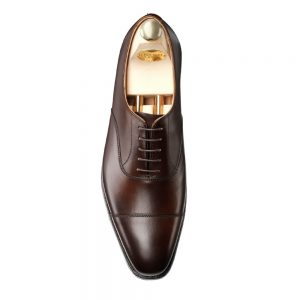 CROCKTT & JONES HALLAM DARK BROWN  CALF