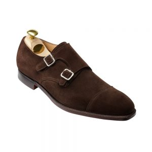 CROCKTT & JONES LOWNDES DARK BROWN SUEDE