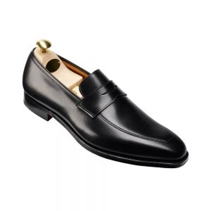 CROCKTT & JONES MERTON BLACK CALF