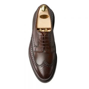 CROCKTT & JONES PEMBROKE DARK BROWN WAX CALF