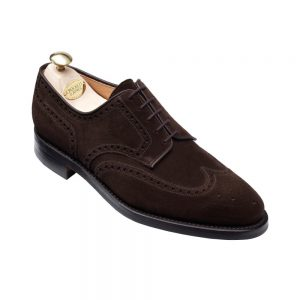 CROCKTT & JONES SWANSEA DARK BROWN SUEDE