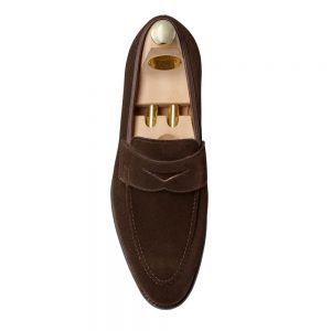 CROCKTT & JONES SYDNEY DARK BROWN SUEDE CITY SOLE