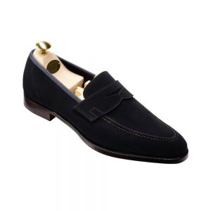 CROCKTT & JONES TEIGN NAVY SUEDE