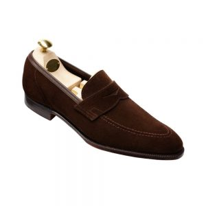 CROCKTT & JONES TEIGN DARK BROWN SUEDE