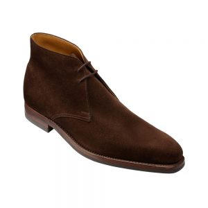 CROCKTT & JONES TETBURY DARK BROWN SUEDE