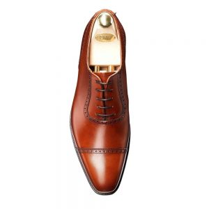 CROCKTT & JONES WESTBOURNE CHESTNUT CALF