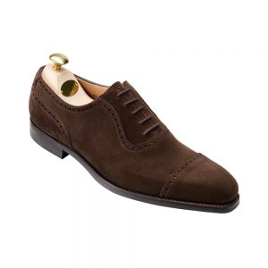 CROCKTT & JONES WESTBOURNE DARK BROWN SUEDE