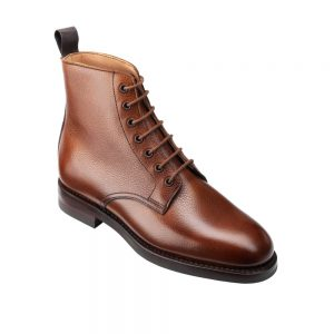 CROCKTT & JONES BARNWELL 2 TAN SCOTCH GRAIN