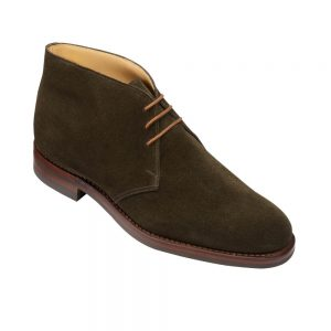 CROCKTT & JONES CHILTERN EARTH GREEN SUEDE