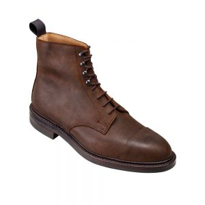 CROCKTT & JONES CONISTON DARK BROWN SCOTCH ROUGH OUT SUEDE