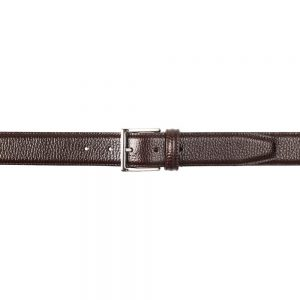 CROCKETT & JONES BELT DARK BROWN GRAIN