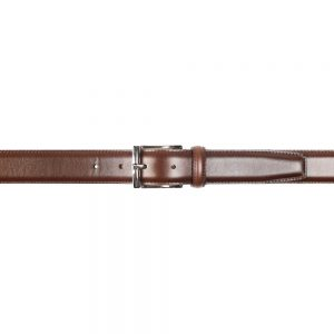 CROCKETT & JONES BELT DARK BROWN CALF