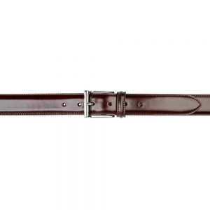 CROCKETT & JONES BELT DARK BROWN CORDOVAN