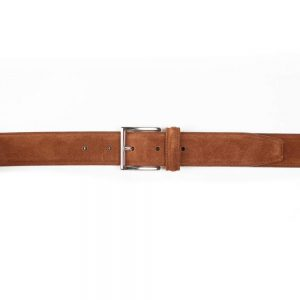 CROCKETT & JONES BELT POLO BROWN SUEDE