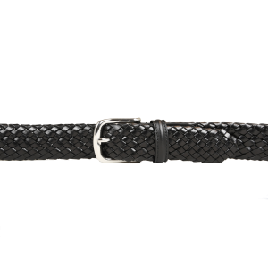 CROCKETT & JONES BELT BLACK WOVEN