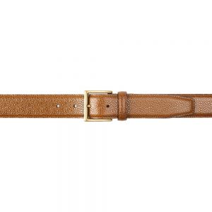 CROCKETT & JONES BELT TAN GRAIN