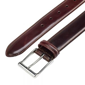 CROCKETT & JONES BELT BURGUNDY CORDOVAN