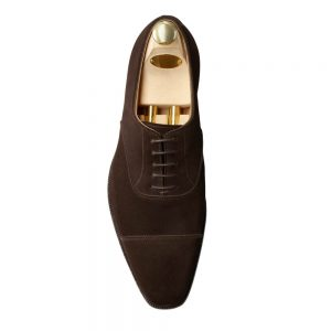 CROCKTT & JONES HALLAM ESPRESSO CALF SUEDE
