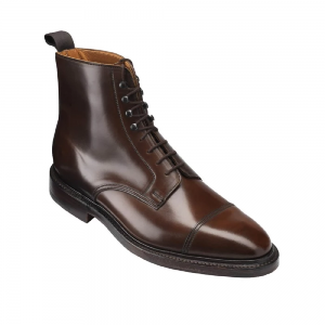 CROCKTT & JONES HARLECH DARK BROWN CORDOVAN