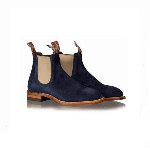 R.M.WILLIAMS CRAFTSMAN G NAVY SUEDE