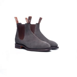 R.M.WILLIAMS CRAFTSMAN G GUNMETAL SUEDE