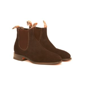 R.M.WILLIAMS CRAFTSMAN G CHOCOLATE SUEDE