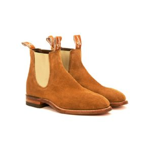 R.M.WILLIAMS CRAFTSMAN G BONE ELASTIC MID BROWN