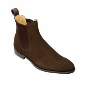 CROCKTT & JONES BONNIE DARK BROWN CALF SUEDE