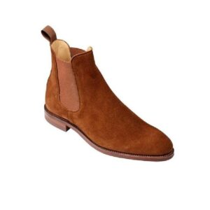 CROCKTT & JONES BONNIE POLO BROWN CALF SUEDE
