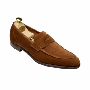 CROCKTT & JONES CADOGAN TOBACCO CALF SUEDE