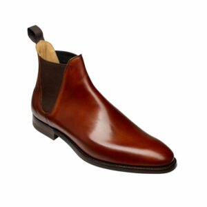 CROCKTT & JONES CHELSEA 8 CHESTNUT CALF
