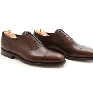LOAKE 1880 FLEET DARK BROWN CALF