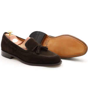 LOAKE 1880 LINCOLN DARK BROWN SUEDE