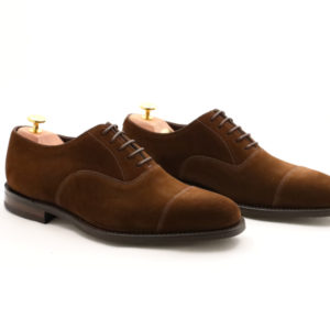 LOAKE 1880 WESLEY DARK BROWN SUEDE