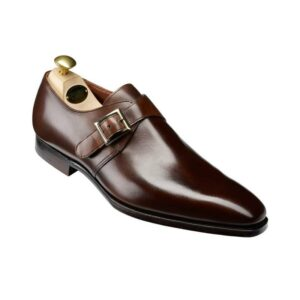 CROCKTT & JONES SAVILE 4 DARK BROWN ANTIQUE CALF