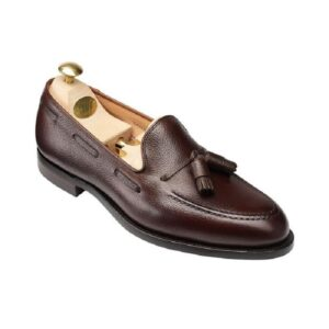 CROCKTT & JONES CAVENDISH DARK BROWN PEBBLE GRAIN
